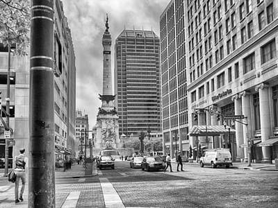 Photograph - Monument Circle by Howard Salmon