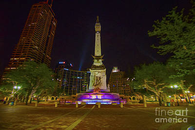 Photograph - Monument Circle Indianapolis Digital Oil Paint by David Haskett II