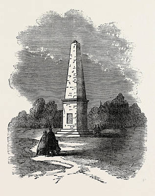 Wyoming Drawing - Monument Erected At Wyoming, United States Of America by American School