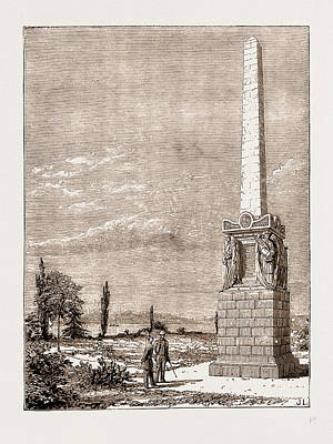 Graveyard Drawing - Monument In The British Graveyard, Scutari by Litz Collection