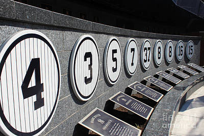 Joe Dimaggio World Series Photograph - Monument Park by Ann Addeo