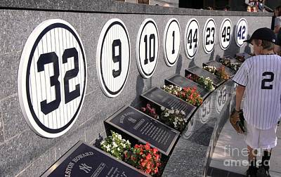 Photograph - Monument Park -  Yankee Stadium by Allen Beatty