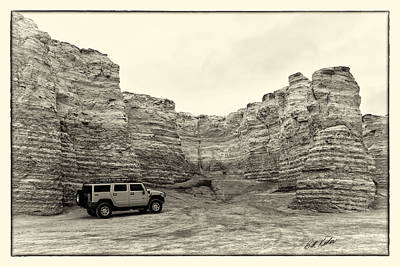 Monument Rocks - Chalk Pyramids Art Print by Bill Kesler
