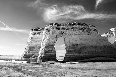 Monument Rocks Photograph - Monument Rocks In Winter Sky by Ellie Teramoto