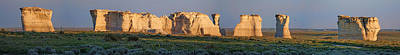 Monument Rocks Of Kansas Photograph - Monument Rocks Panorama by Alan Hutchins