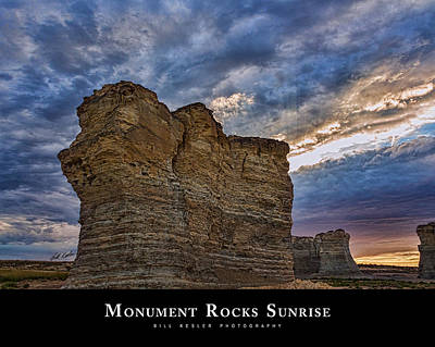 Photograph - Monument Rocks Sunrise by Bill Kesler