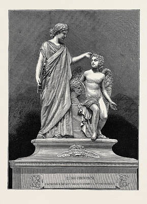Monument To Cherubini, The Musical Composer Art Print by English School
