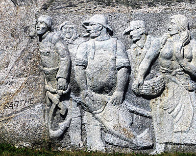 Photograph - Monument To Fishermen In Granite by Patricia Januszkiewicz