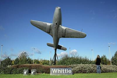 Monument To Frank Whittle Art Print by Martin Bond