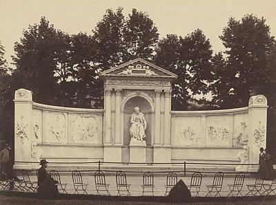 Frankenstein Drawing - Monument To Franz Grillparzer In The Volksgarten In Vienna by Artokoloro