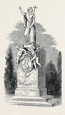 Cemetary Drawing - Monument To Madame Soyer by English School