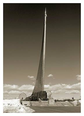 Titanium Photograph - Monument To The Conquerors Of Space by Detlev Van Ravenswaay