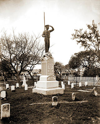 Key West Drawing - Monument To The Maine Soldiers, Key West, Fla, Maine by Litz Collection