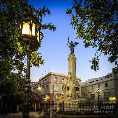 Photograph - Monument To The Marquis Of Comillas Cadiz Spain by Pablo Avanzini