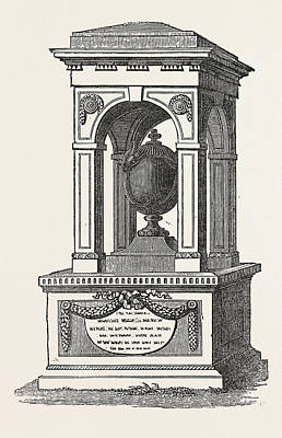 Monument To The Memory Of Sir Hans Sloane, The Founder Art Print