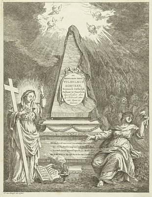 Monument To Wilhelmus Somveen, Hermanus Van Brussel Art Print by Hermanus Van Brussel And Jan Severeinse