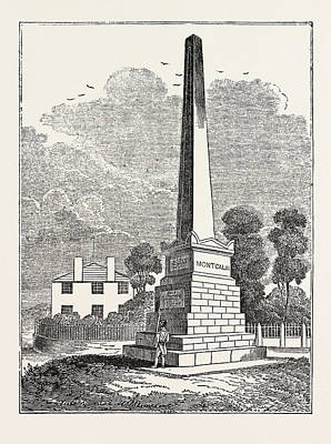 Quebec Drawing - Monument To Wolfe And Montcalm, Quebec by Litz Collection