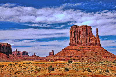 Photograph - Monument Valley 1 - West Mitten by Allen Beatty
