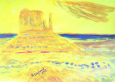 Windblown Painting - Monument Valley 1 by Richard W Linford