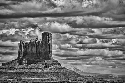 Art Print featuring the photograph Monument Valley 6 Bw by Ron White