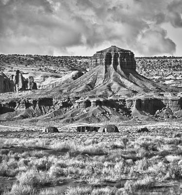 Art Print featuring the photograph Monument Valley 7 Bw by Ron White