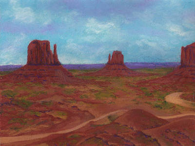 Pastel - Monument Valley by Anne Katzeff