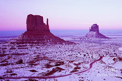 Monument Valley At New Year's Day Art Print