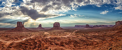 Photograph - Monument Valley At Sunrise by Levin Rodriguez