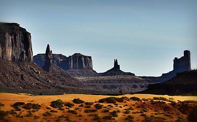 Photograph - Monument Valley Early Light by Nadalyn Larsen