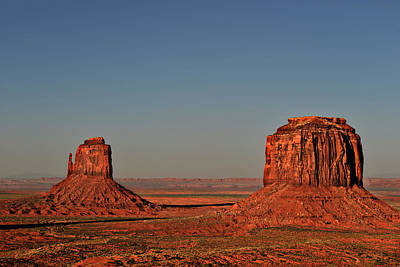 Monument Valley - East Mitten And Merrick Butte Art Print by Christine Till