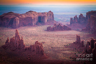 Monument Valley From Hunts Mesa Print by Inge Johnsson