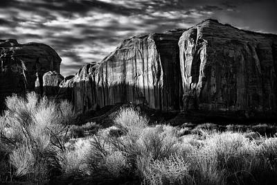 Monument Valley In Black And White Art Print
