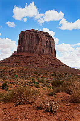 Photograph - Monument Valley Monolith West Mitten Butte by James Hammond