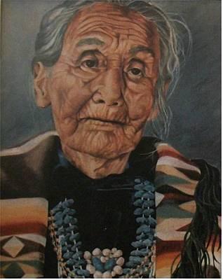 Monument Valley Lady Art Print by Wanda Dansereau