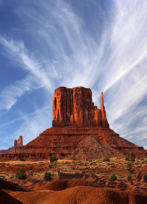 Monument Valley - Left Mitten 2 Art Print by Mike McGlothlen