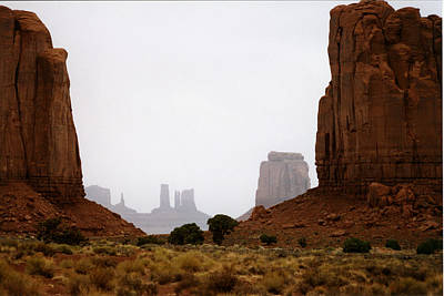 Monument Valley Mist Art Print