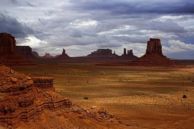 Southwest Landscape Digital Art - Monument Valley Navajo Tribal Park by Ellen Heaverlo