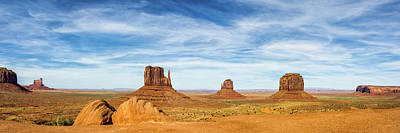 Southwestern Photograph - Monument Valley Panorama - Arizona by Brian Harig