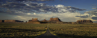 Monument Valley Panorama Print by Steve Gadomski