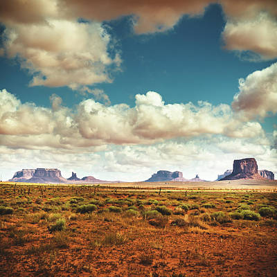 Monument Valley Panoramic View Art Print by Franckreporter