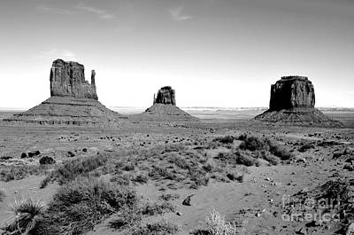 Digital Art - Monument Valley Monoliths Black And White Conte Crayon Digital Art by Shawn O'Brien