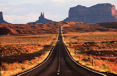 Magestic And Lonesome Road To Monument Valley Original by Kim Lessel