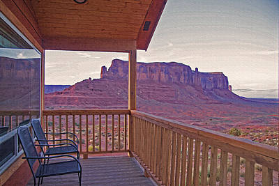 Monument Valley - Room With A View Art Print by Steve Ohlsen
