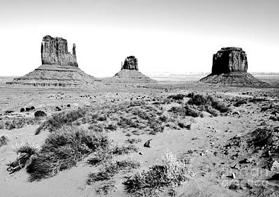 Digital Art - Monument Valley Sandstone Monoliths Scenic Landscape Black And White Conte Crayon Digital Art by Shawn O'Brien