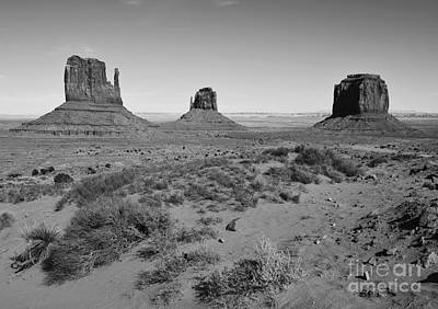 Great Outdoors Photograph - Monument Valley Sandstone Monoliths Scenic Landscape Black And White  by Shawn O'Brien