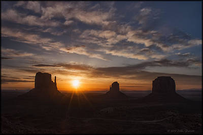 Photograph - Monument Valley Sunrise 2 by Erika Fawcett