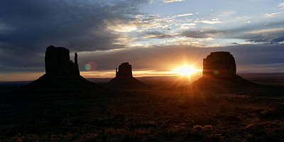 Photograph - Monument Valley Sunrise by Wes and Dotty Weber