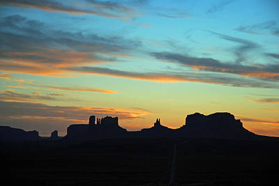 Photograph - Monument Valley Sunset 4  by Jeff Brunton