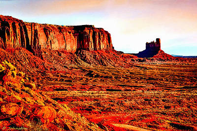 Photograph - Monument Valley Sunset By Bob Johnston by Bob and Nadine Johnston