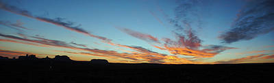 Photograph - Monument Valley Sunset Pan by Jeff Brunton